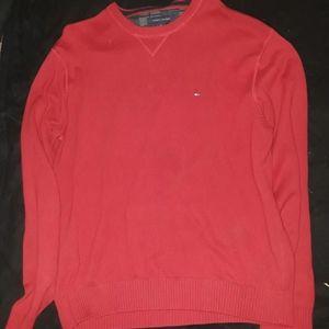 XXL Red Tommy Hilfiger Crew neck sweater